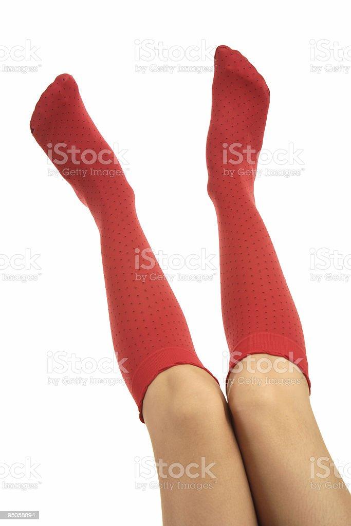 Women Legs in socks royalty-free stock photo