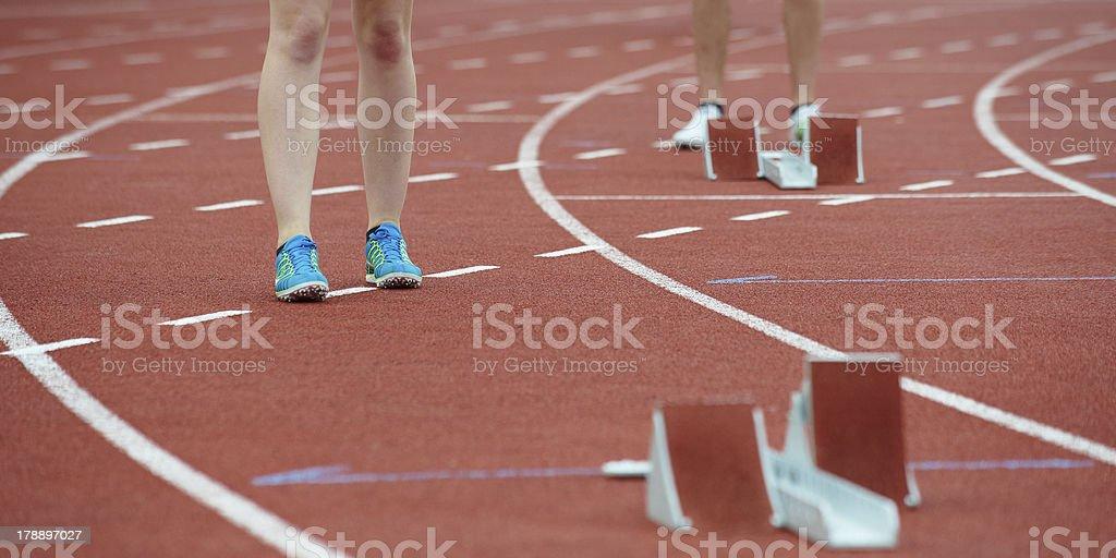 women legs waiting at race royalty-free stock photo
