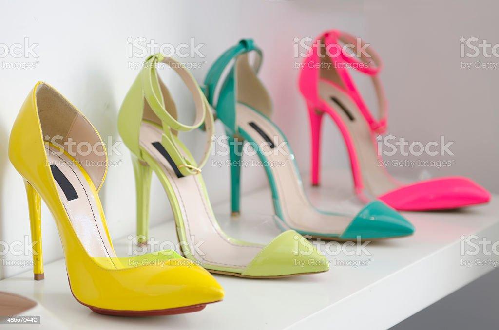 Women luxury shoes stock photo