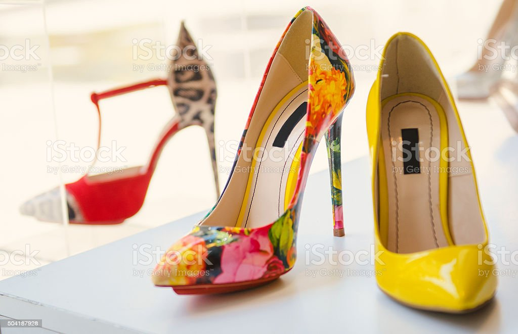 Women luxury shoes stock photo