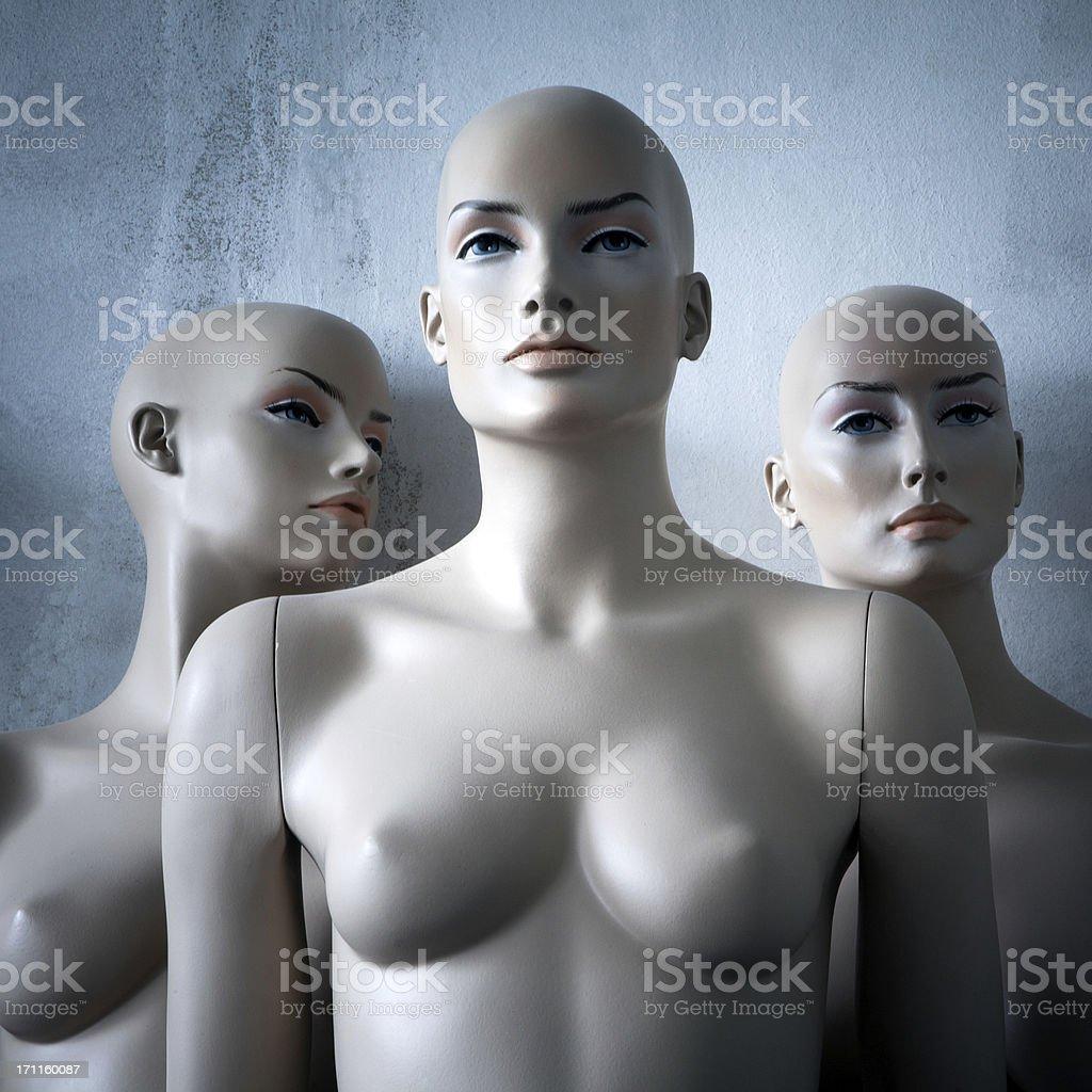 Women mannequins. stock photo