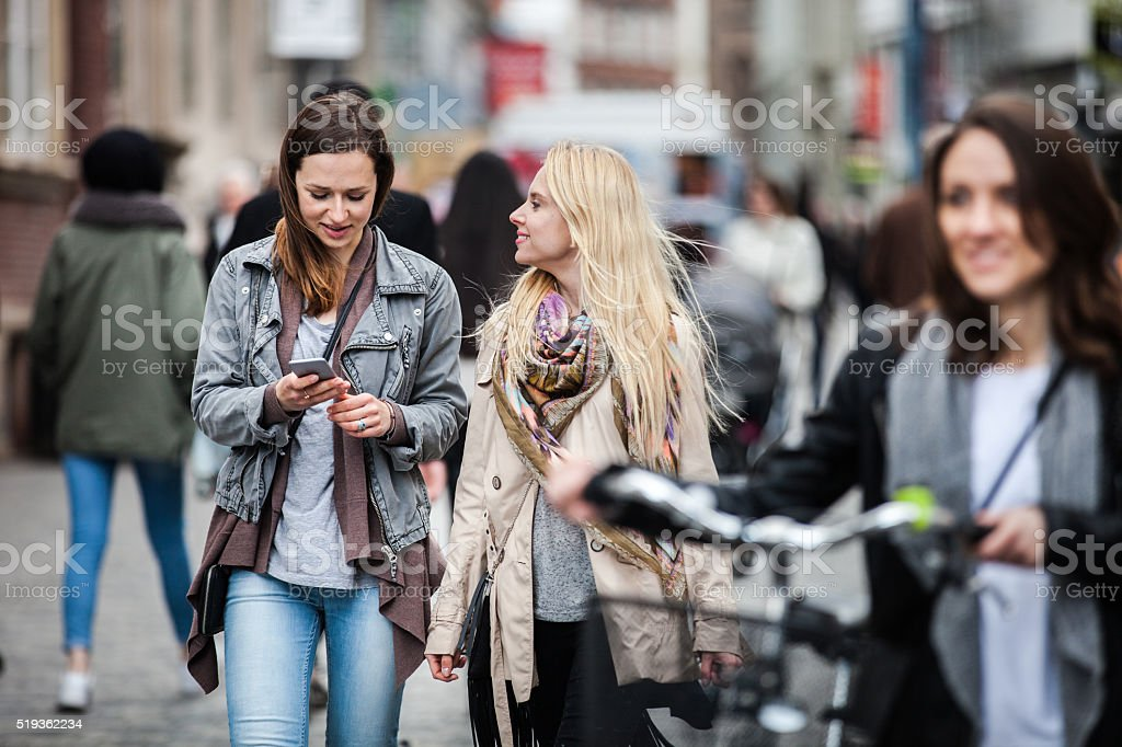 Women meetup in Copenhagen stock photo