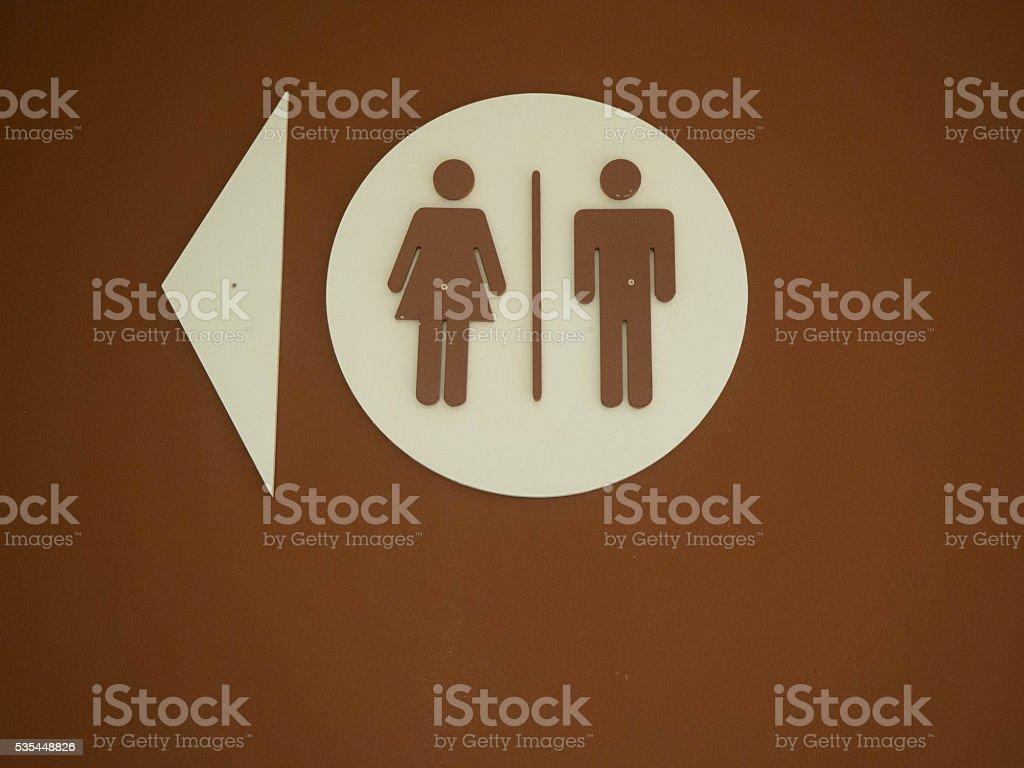 Women & Men Bathroom Sign stock photo