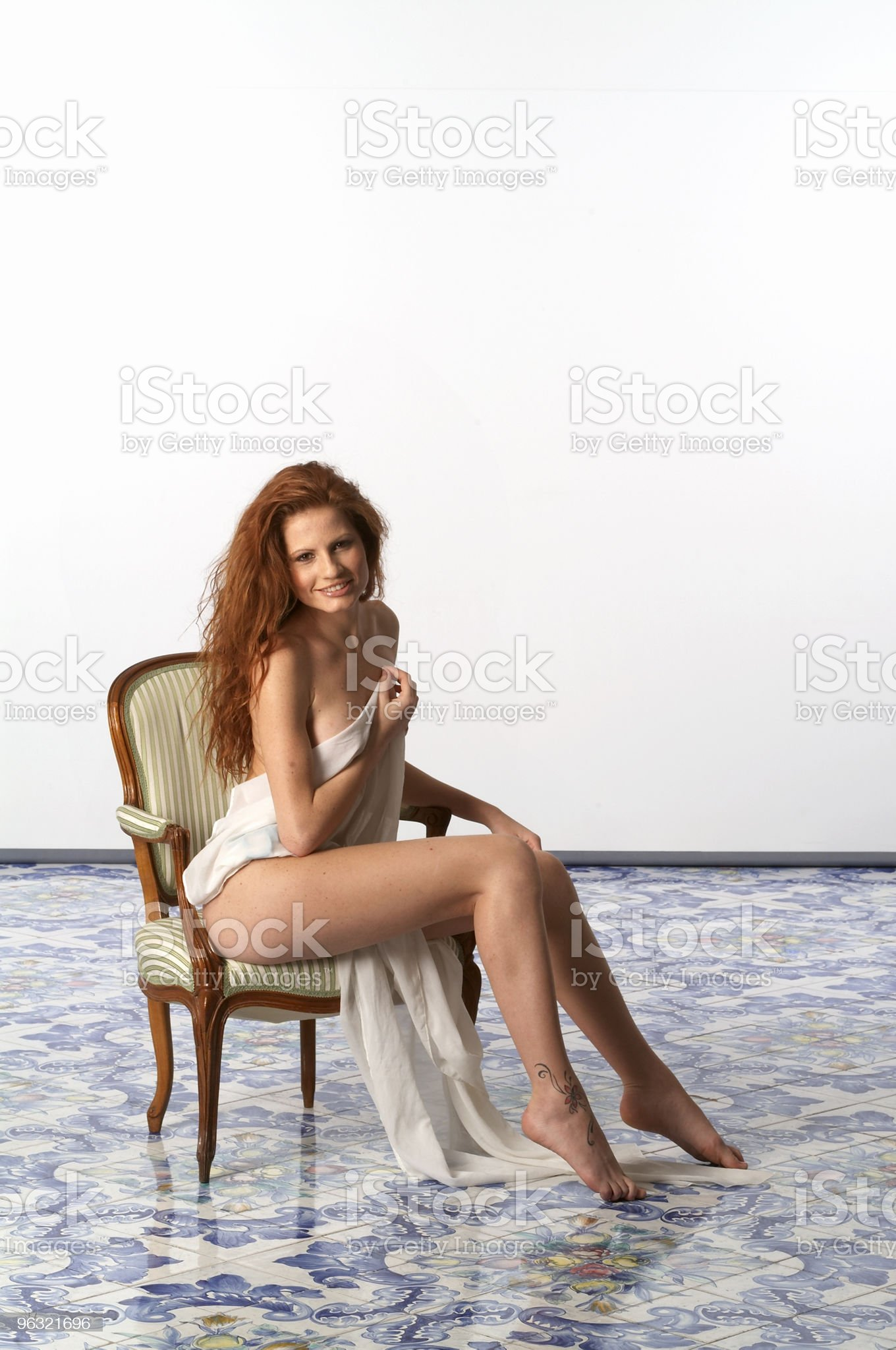 Women Naked with Veil royalty-free stock photo