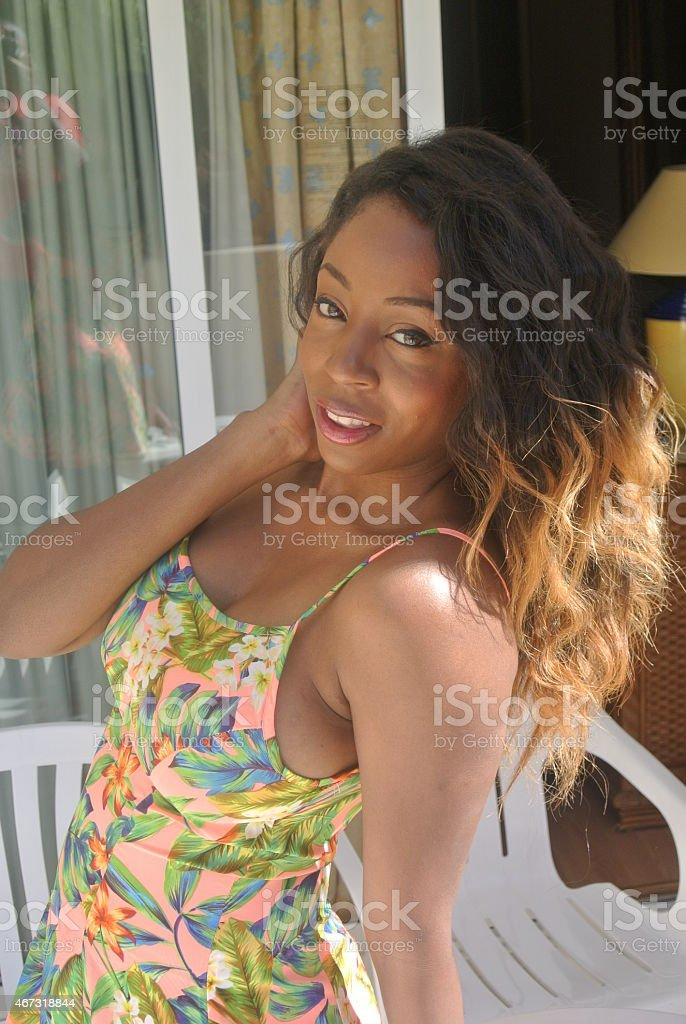 Women of Color Smiling stock photo