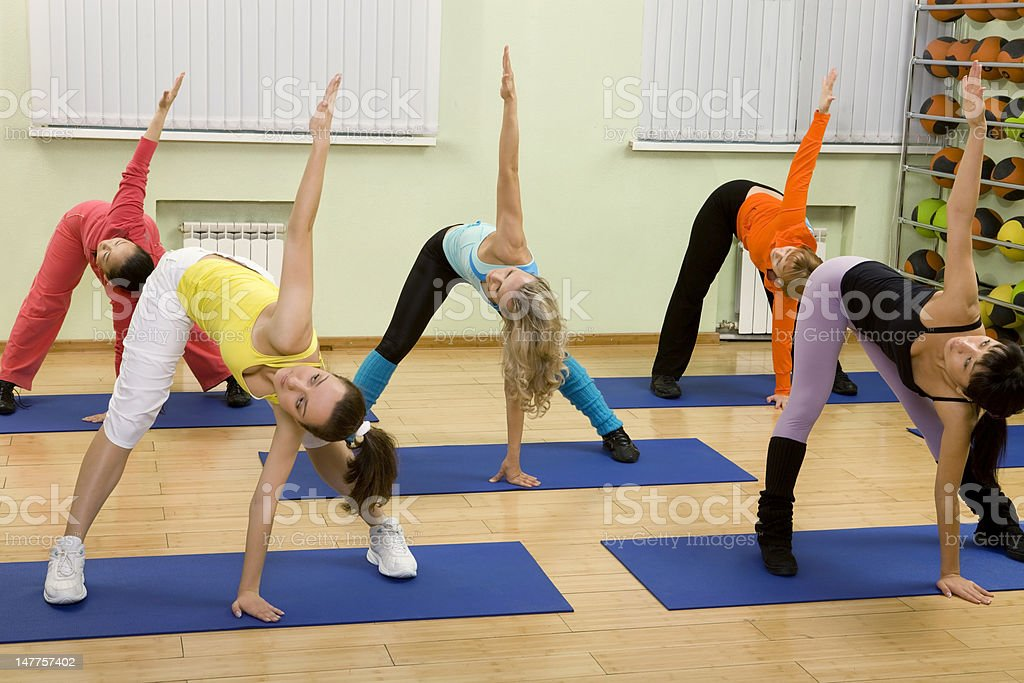 Women of Different Age Doing Exercises. royalty-free stock photo