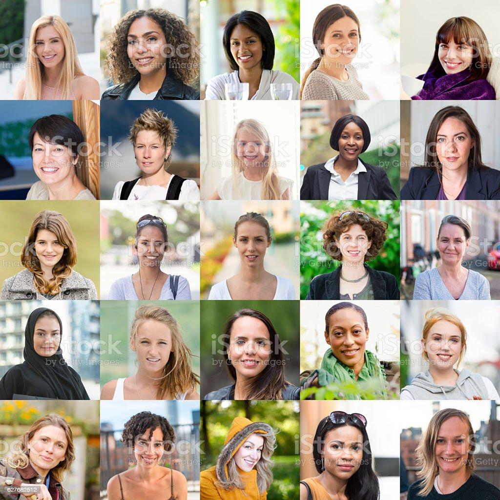 Women of the world stock photo
