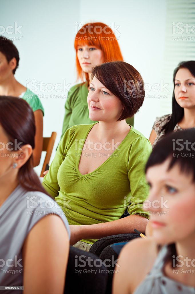 Women on a seminar royalty-free stock photo