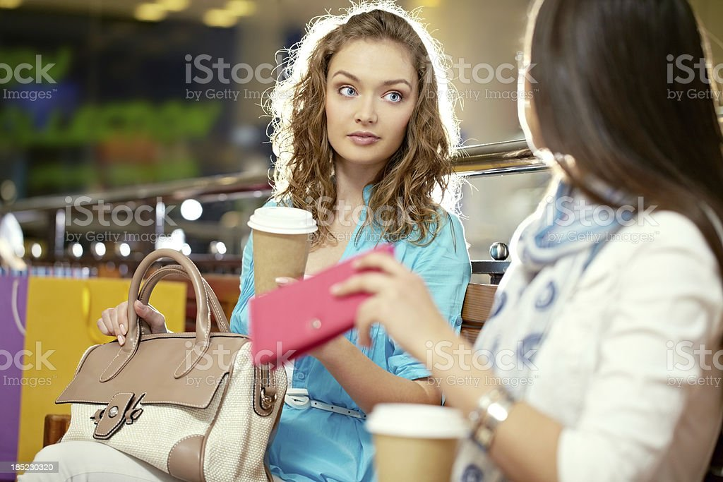 Women on bench royalty-free stock photo