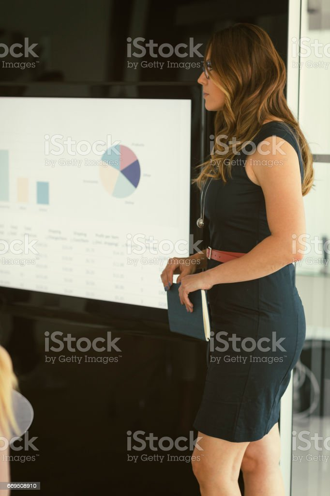 Women on Presentation stock photo