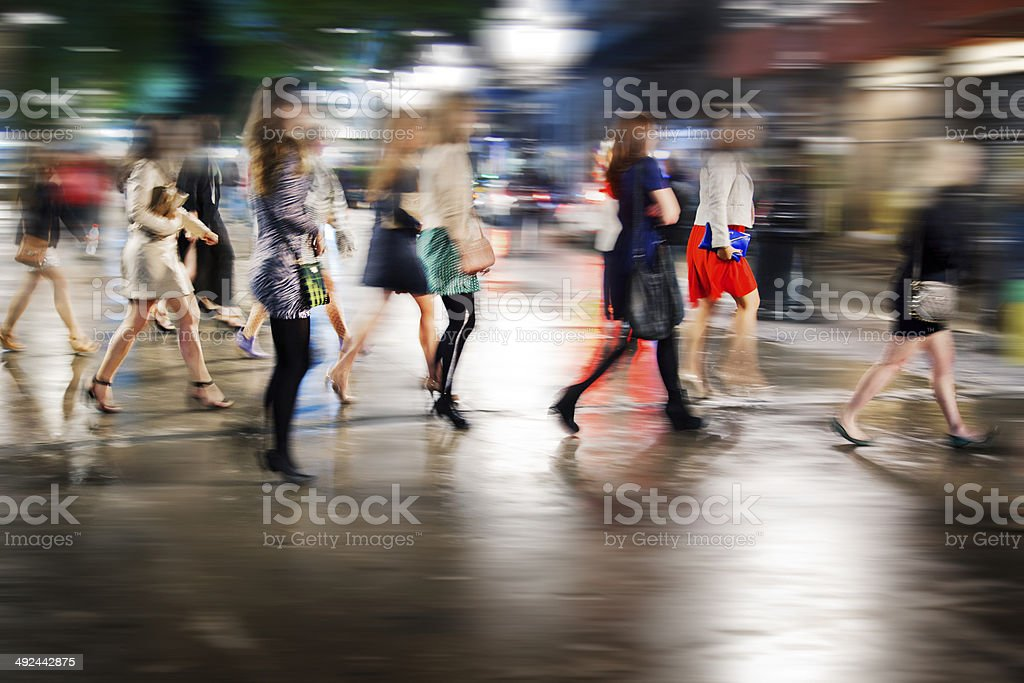 Women on the street stock photo