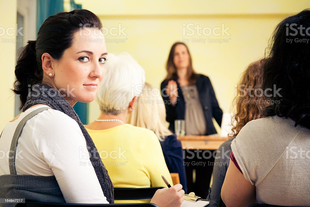 women only seminar royalty-free stock photo