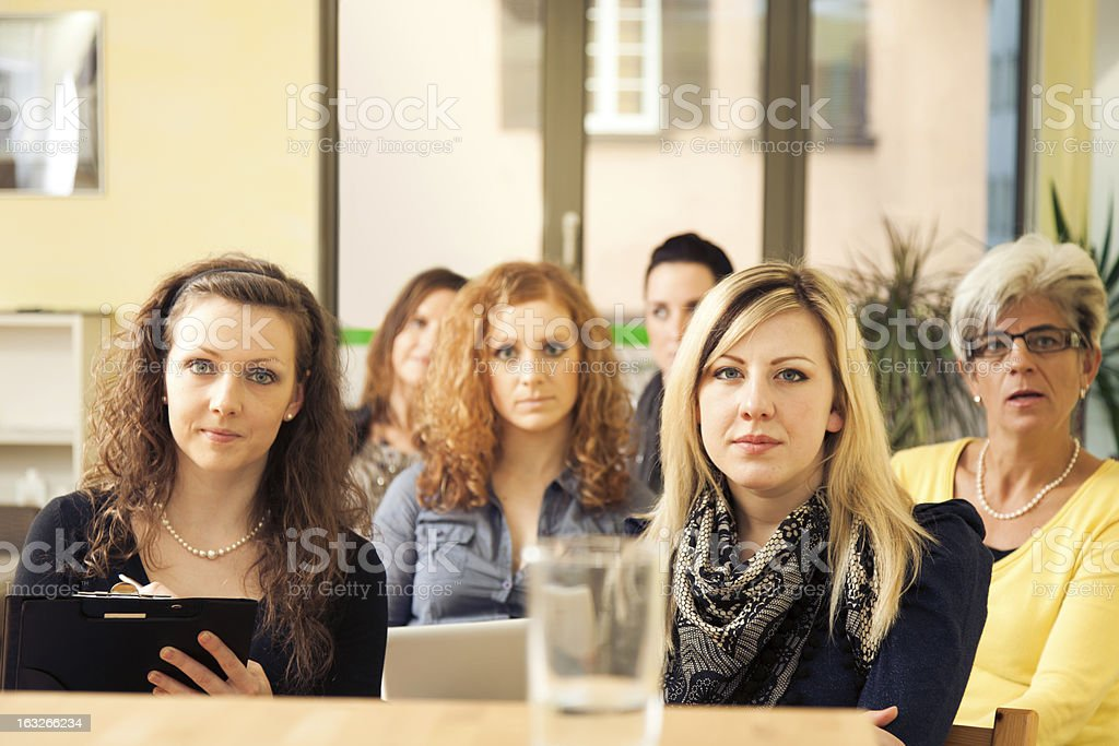 women only seminar royalty-free stock photo