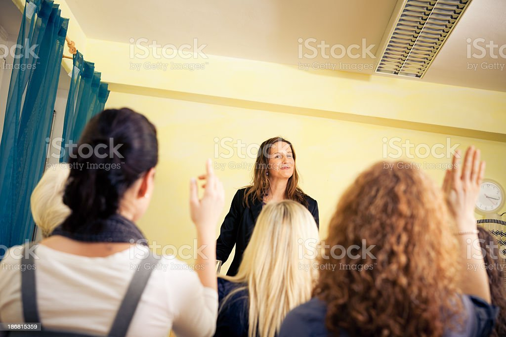 women only seminar stock photo