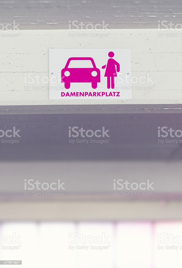 women parking only stock photo