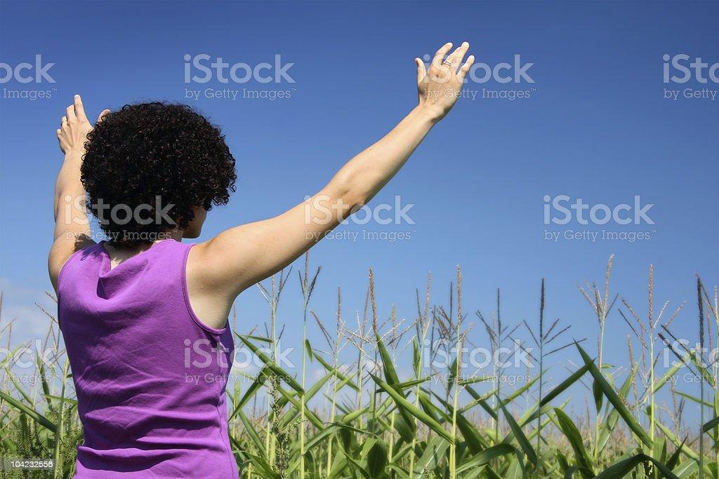 Mulheres louvar foto de stock royalty-free