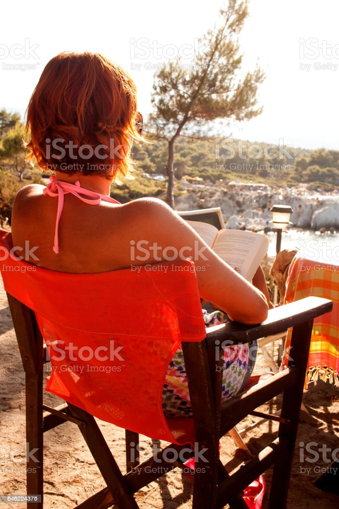 Women read book stock photo