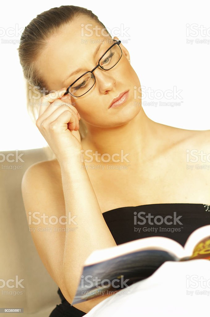 Women reading a book royalty-free stock photo