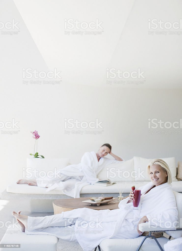 Women relaxing at spa royalty-free stock photo
