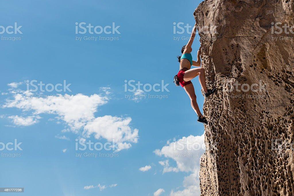 Women Rockclimber stock photo