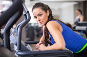 Women running on treadmill