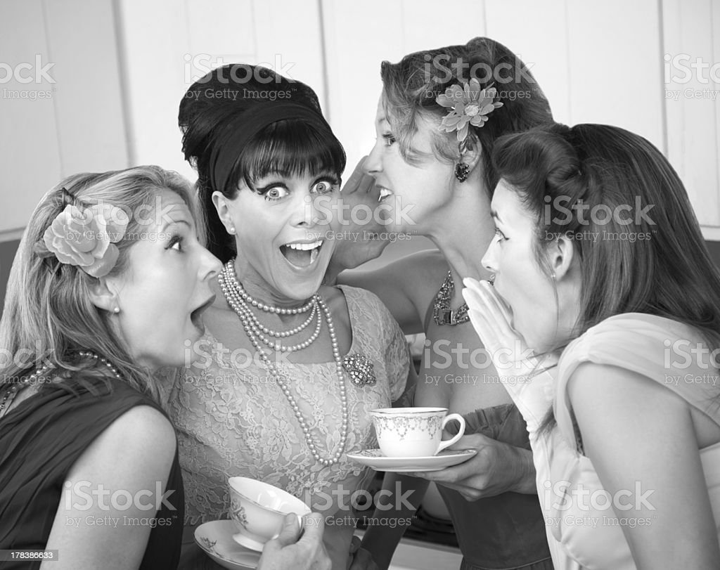 Women Share Secrets stock photo