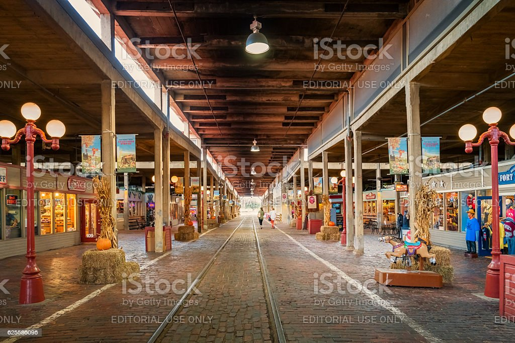 Women shop at Stockyards Station in Fort Worth Texas USA stock photo
