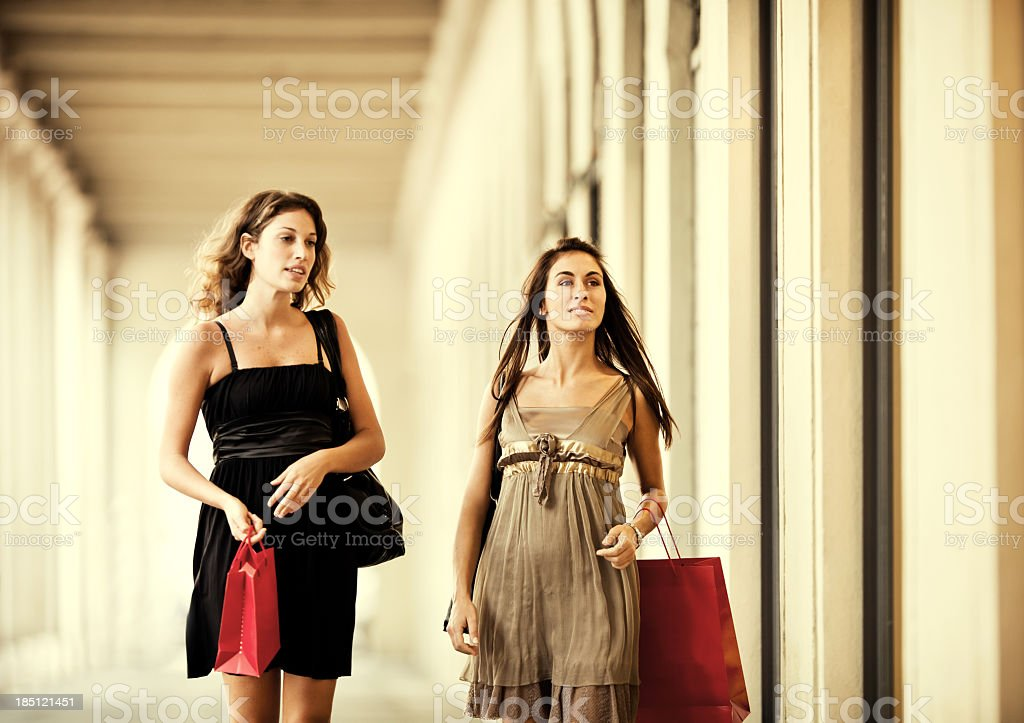 Women Shopping royalty-free stock photo