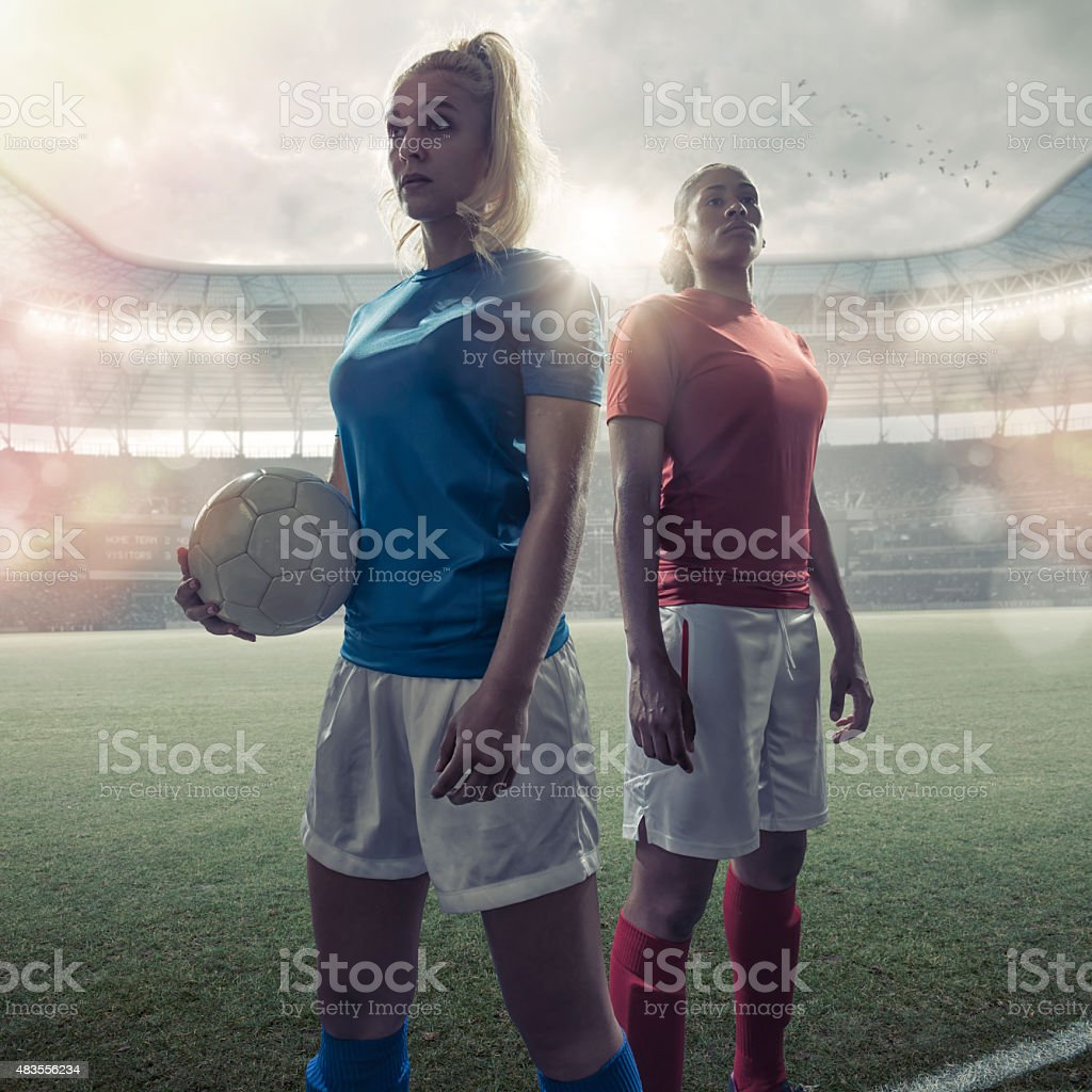 Women Soccer Heroes stock photo