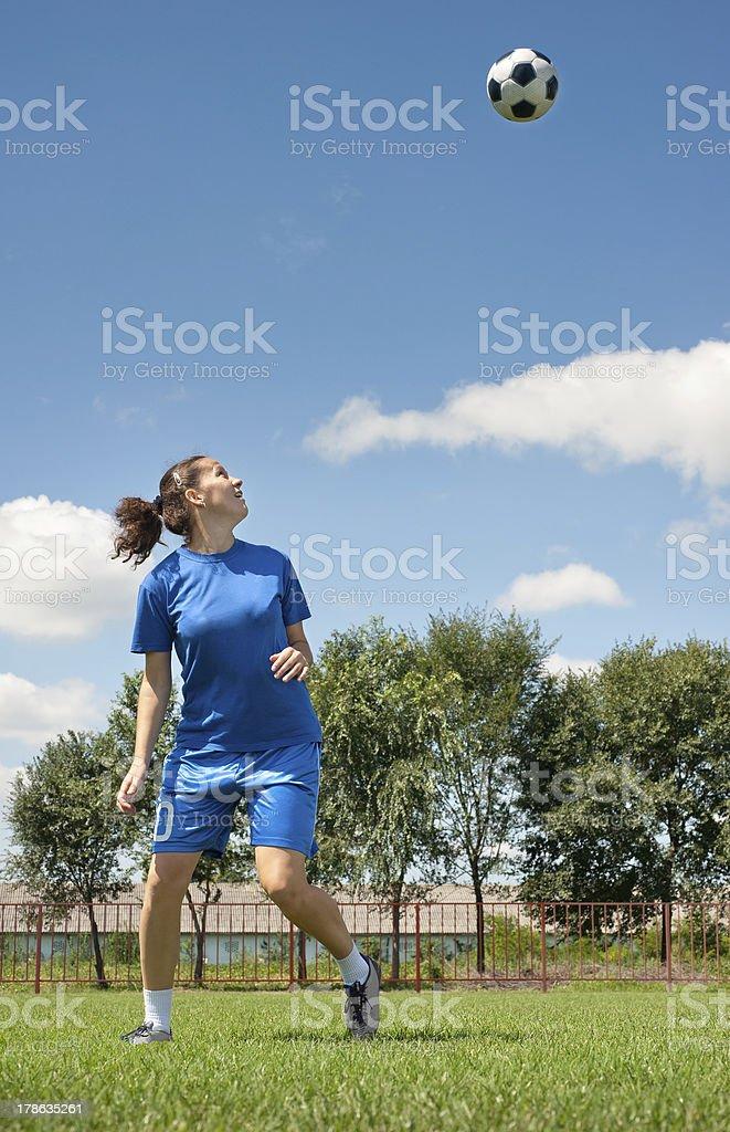 women soccer royalty-free stock photo