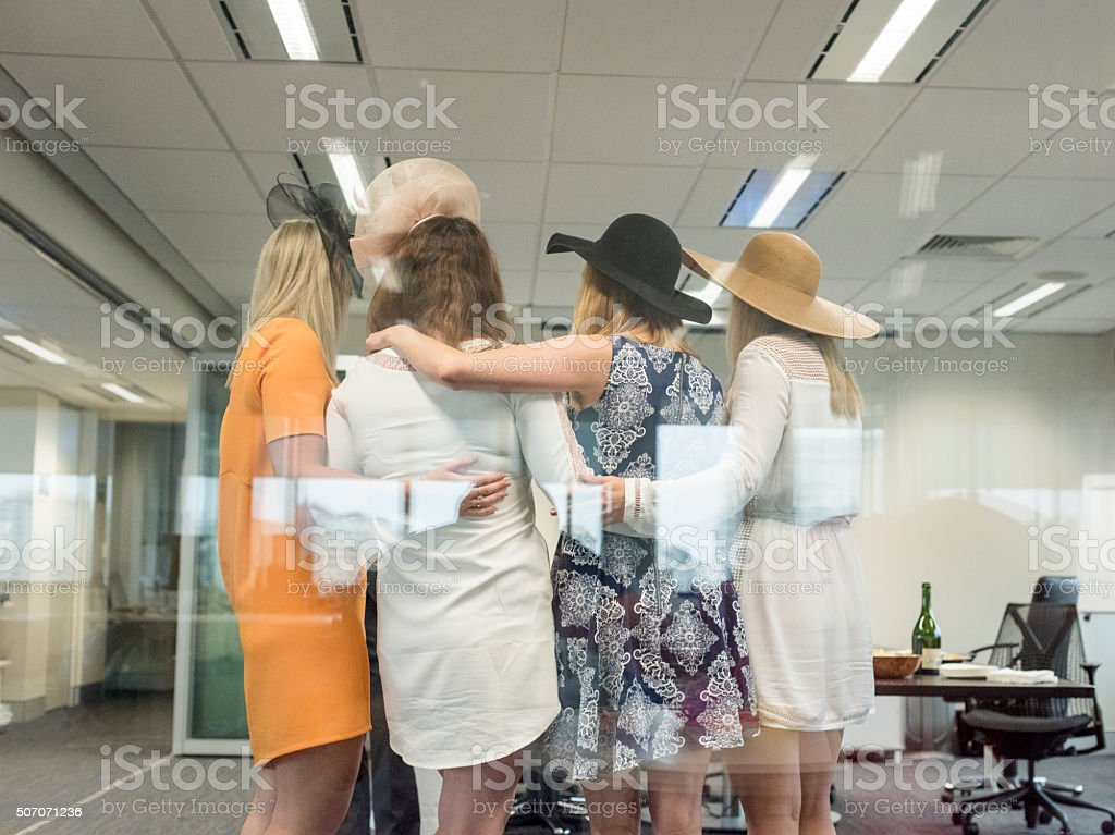 Women Standing Together stock photo