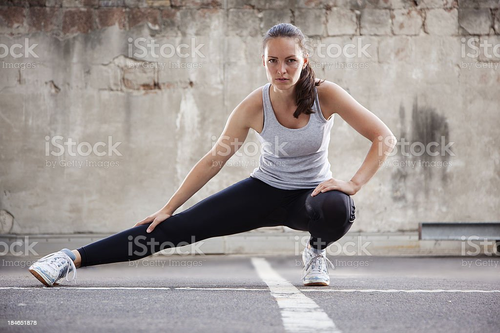 Women stretching before working out royalty-free stock photo