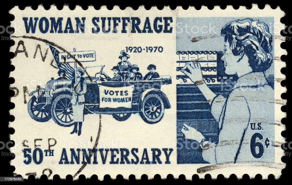 Women Suffrage royalty-free stock photo
