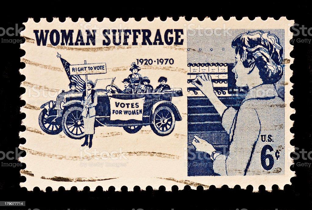 Women Suffrage Postal Stamp stock photo