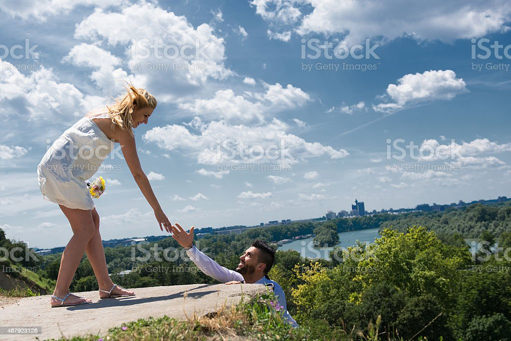 Women support in life stock photo