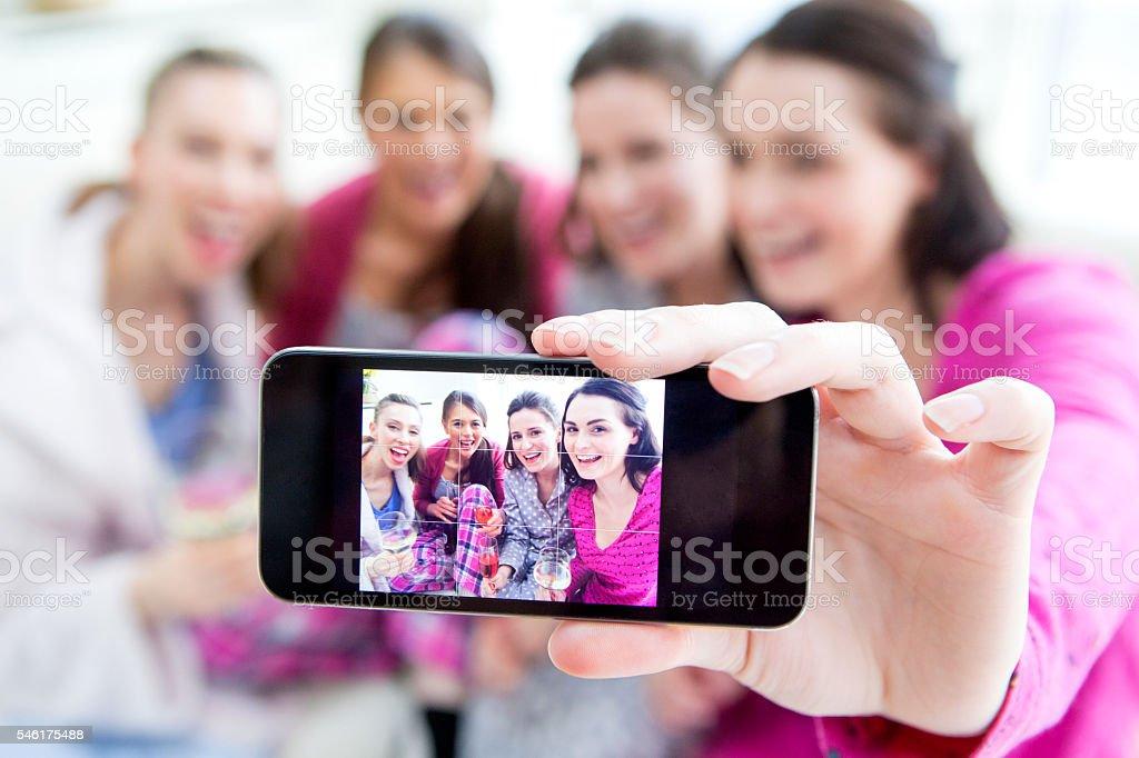 Women Taking A Selfie stock photo