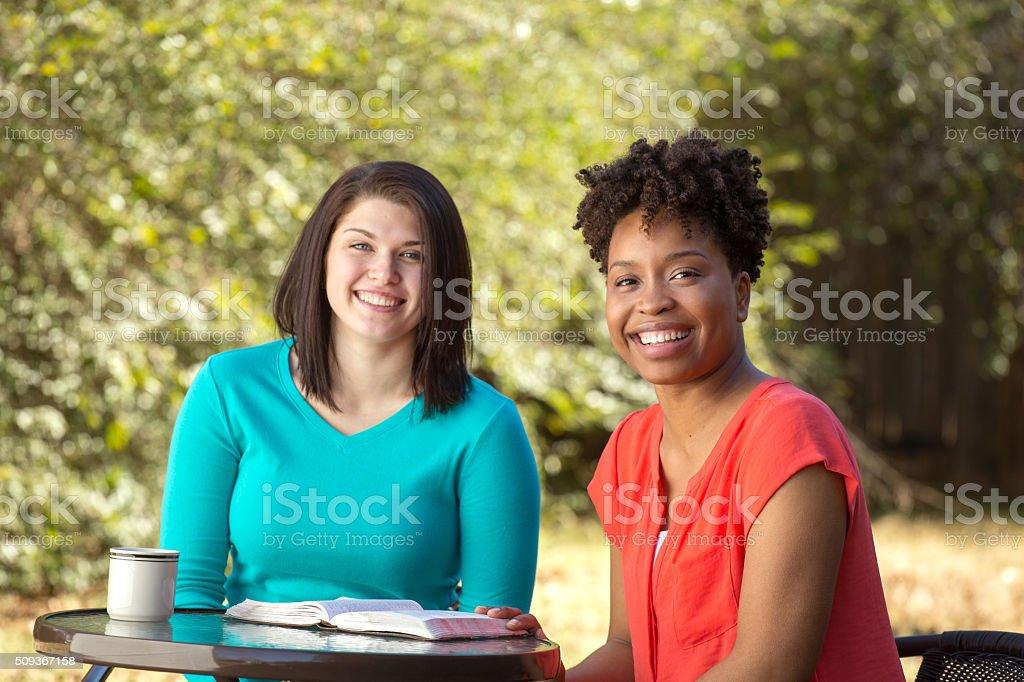 Women Talking stock photo