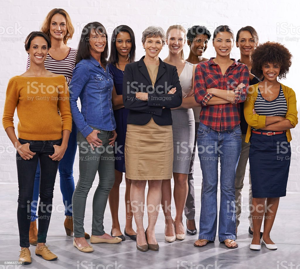 Women united stock photo