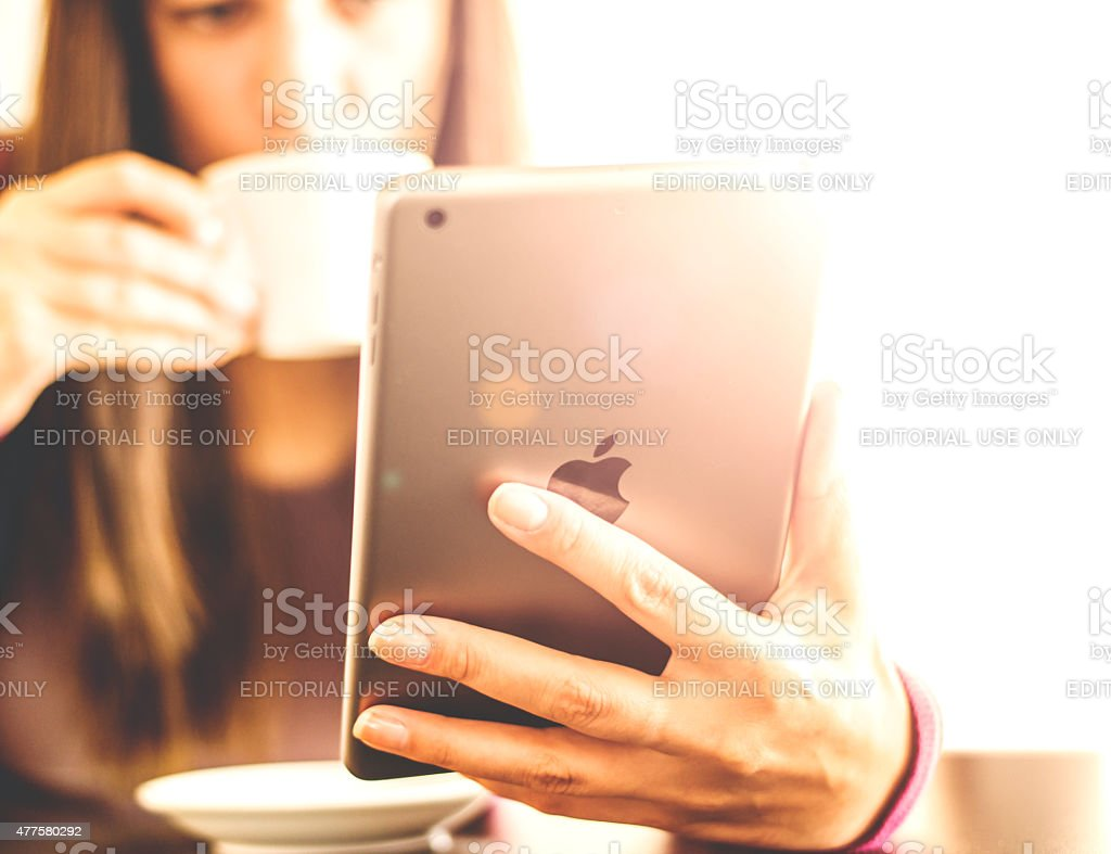 Women Using  Tablet stock photo