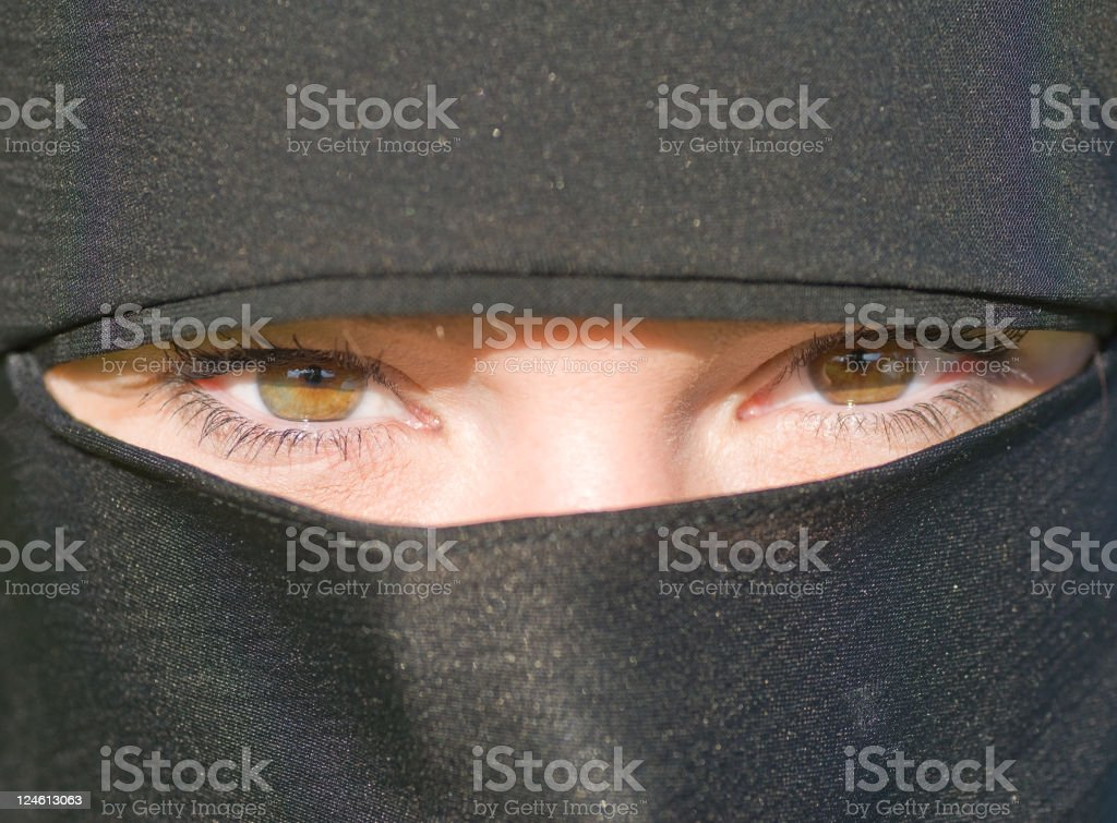 Women wearing hijab stock photo