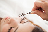 Women who go to eyelash extensions store