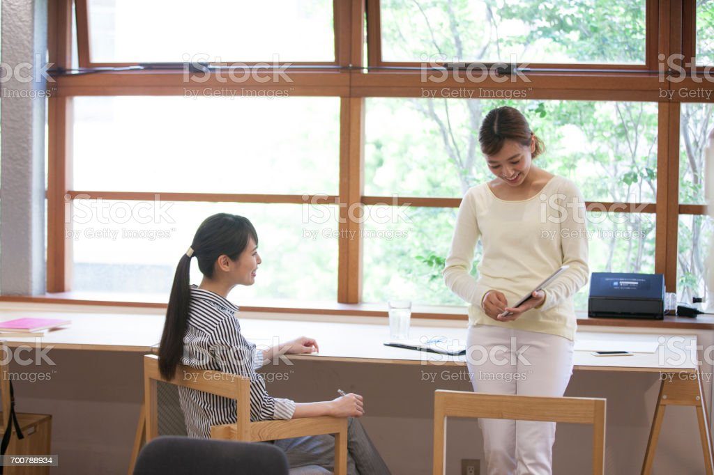Women who work in the Office stock photo