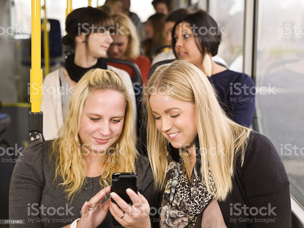 Women with a cellphone royalty-free stock photo