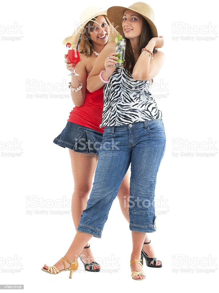 Women with cocktails royalty-free stock photo