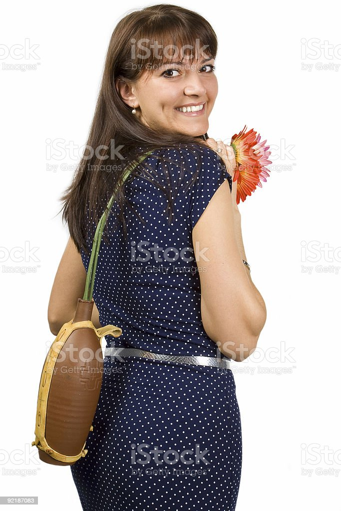women with flowers royalty-free stock photo
