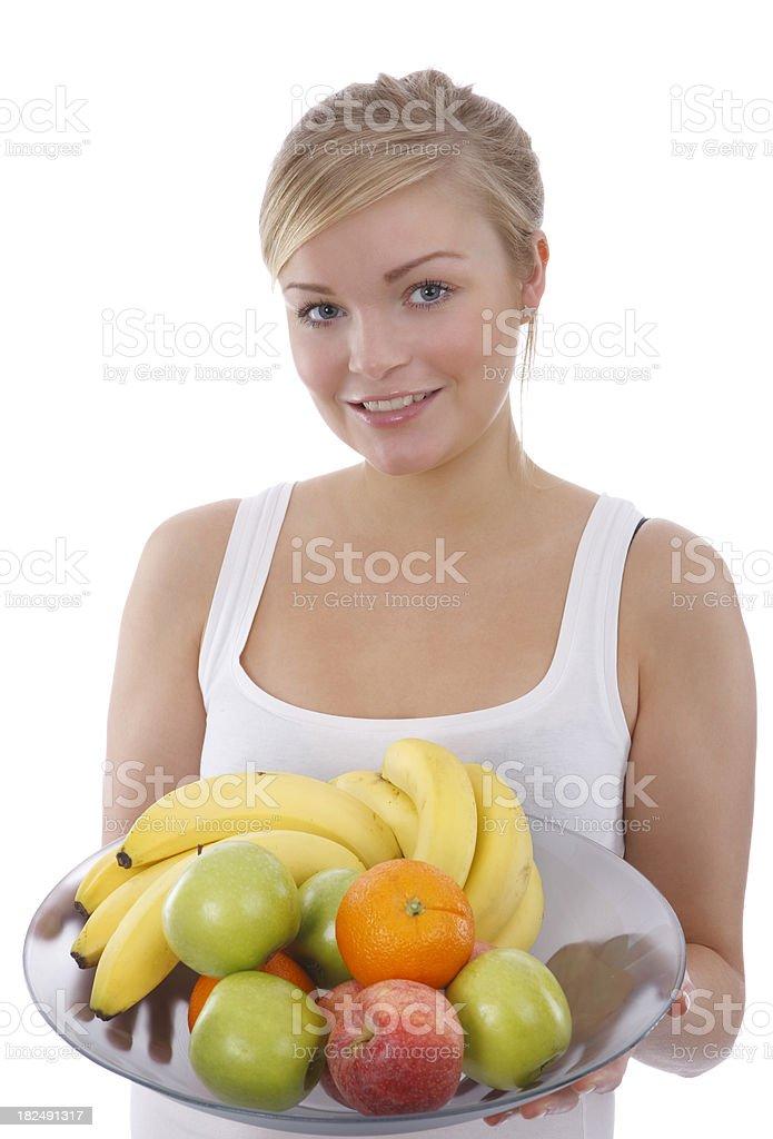 Women with fruit stock photo