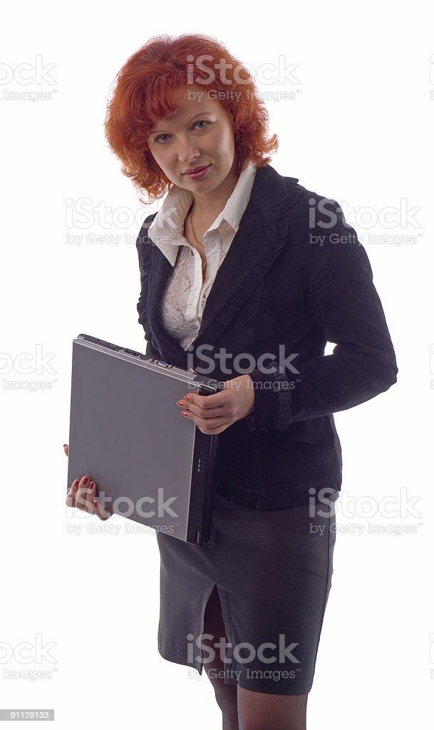 Women with laptop stock photo