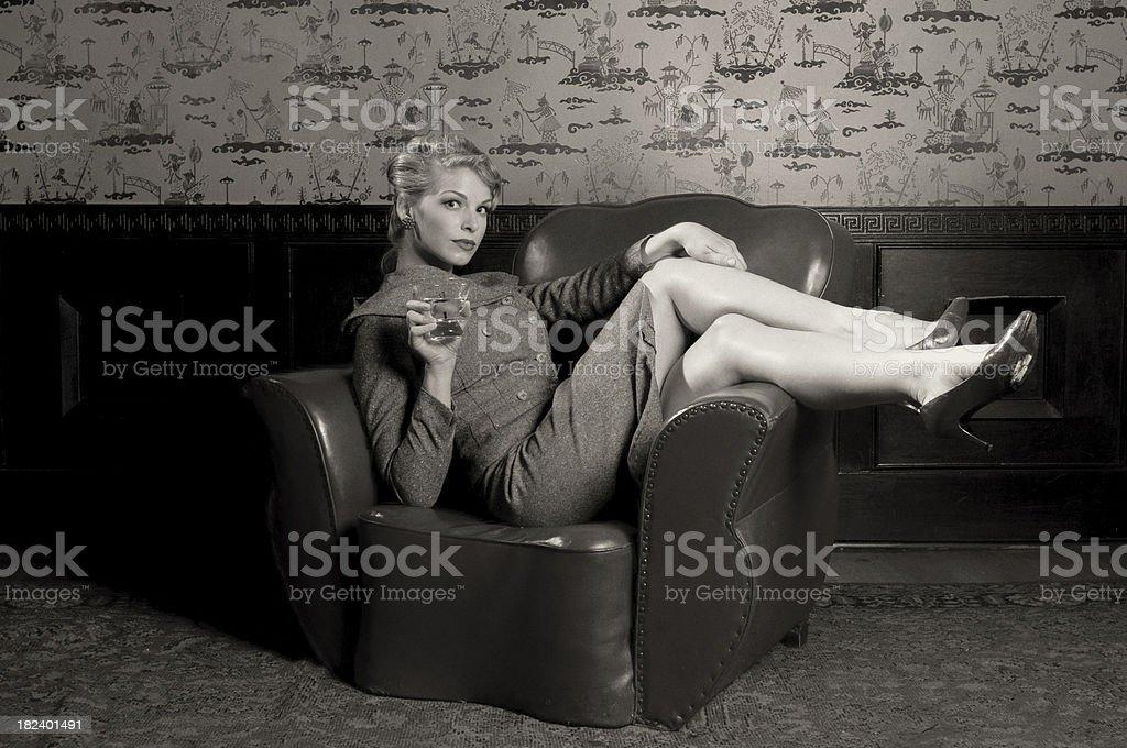 Women with Martini stock photo