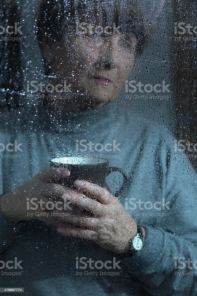 Women with menopause stock photo