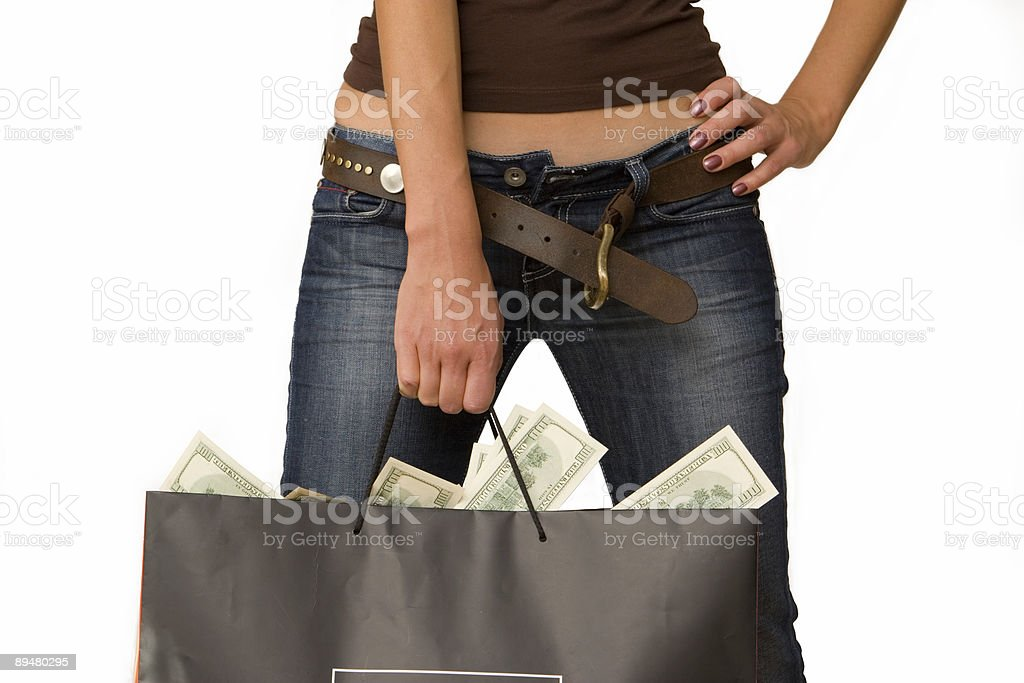 Women with money stock photo